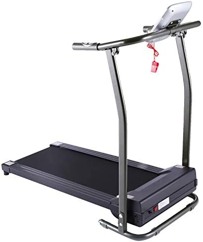 Electric Folding Treadmill for Small Spaces, Ultra-Quiet Portable Exercise Running Machine for Home Workout with 12 Programs & LCD Screen 1