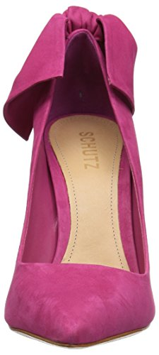 pointed toe pump bow embellishment