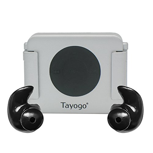 Tayogo iPod Shuffle Case, iPod Shuffle 4th Generation 100% Waterproof Case for Swimming, Surfing, Boating, Running, etc.-Silver