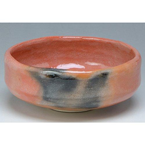 Kiyomizu-kyo yaki ware. Japanese aka raku Matcha chawan teabowl zuisho with paper box. Ceramic. kymz-TRS456