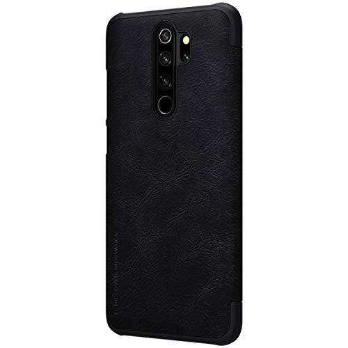 """Nillkin Case for Xiaomi Redmi Note 8 Pro (6.53"""" Inch) Qin Genuine Classic Leather Flip Folio + Card Slot Black Color 3"""