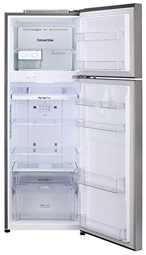 41W4Eh2Mx0L - LG 335 L 3 Star Inverter Frost-Free Double Door Refrigerator (GL-T372JDS3, Dazzle Steel, Convertible)