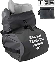 You must have troubles while traveling with kids and sometimes didn't want to pay extra money for their carseat. So here comes a solution that can both save your troubles and fees during your trip! From now on, traveling with our car seat bag, you wo...