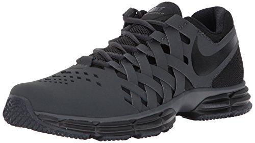 Nike Men's Lunar Fingertrap Cross Trainer, Anthracite/Black, 10.0 Regular US