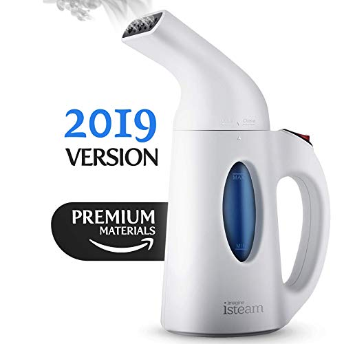 iSteam Steamer for Clothes New Upgrade 7/1 - Powerful Steam Multi-use: Garment Wrinkle Remover. Cleaner. Machine Sanitize. Refresh. Treat. Defrost. for Home/Kitchen/Car/Travel Luggage [White]