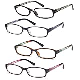 Gamma Ray Women's Reading Glasses 4 Print Ladies Fashion Readers for Women - 4.50