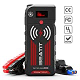 BEATIT G18 2000Amp Peak 12V Portable Car Jump Starter (Up to 8.0L Gas and Diesel) 21000mAh Portable Power Bank with Wireless Charger Auto Battery Booster Smart Jumper Cables