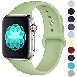 ilopee Bands for Apple Watch 38mm 40mm Series 4 3 2 1, Mint Green, M/L