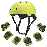 Dostar Kids Helmet Knee Pads for 3-10 Years Toddler Helmet, 7 Pcs Outdoor Sports Protective Gear Set Bike...
