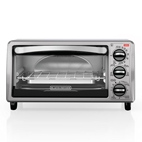 BLACK+DECKER TO1313SBD 4-Slice Toaster Oven Black