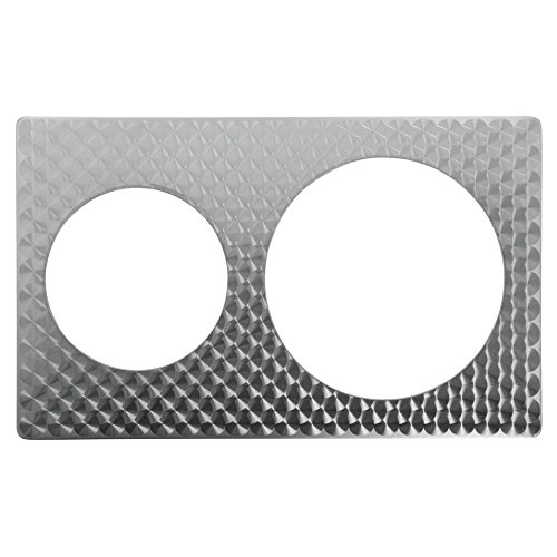 Bon Chef 5210926230003 EZ Fit Stainless Steel Tile Inset, Full Size, Circles for 62303NC and 62300NC
