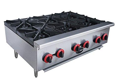 Heavy Duty 6 Burner, Gas, Countertop Hotplate Cooker