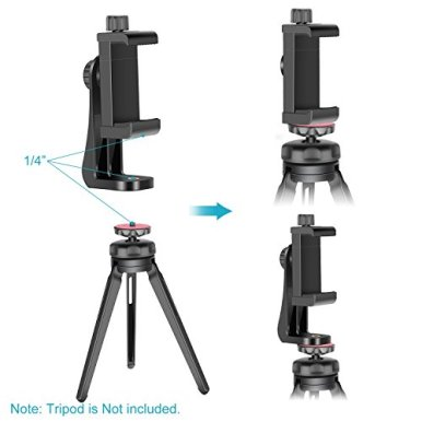 Neewer-Smartphone-Holder-Vertical-Bracket-with-14-inch-Tripod-Mount-Phone-Clip-Adapter-Compatible-with-iPhone1111-Pro11-Pro-Max-Samsung-Galaxy-S1010-and-Other-Phones-Within-19-39-inches-Width