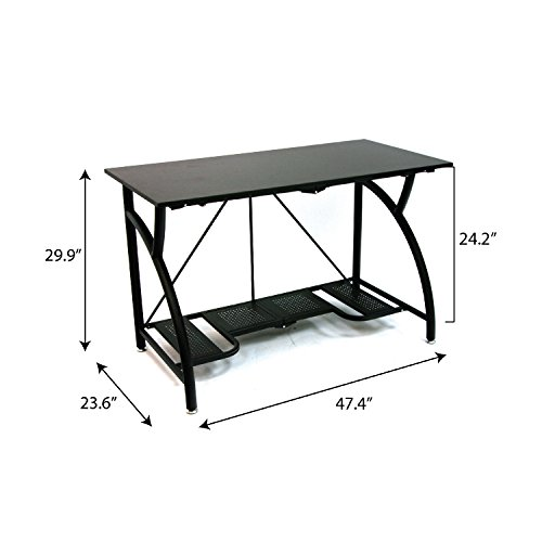 Origami Foldable Computer Desk, Black