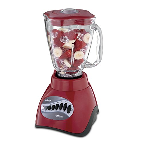 Oster 006831-000-000 6831 10 Speed 5-Cup Blender, Red