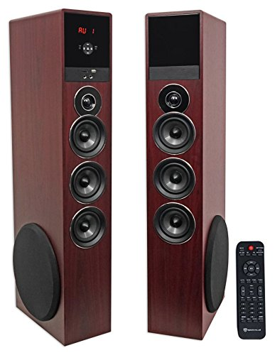 Rockville TM150C Bluetooth Home Theater Tower Speaker System (2) 10' Subwoofers!