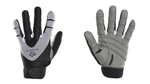 Bionic Men's PerformanceGrip Full Finger Fitness Gloves, Black (PAIR)