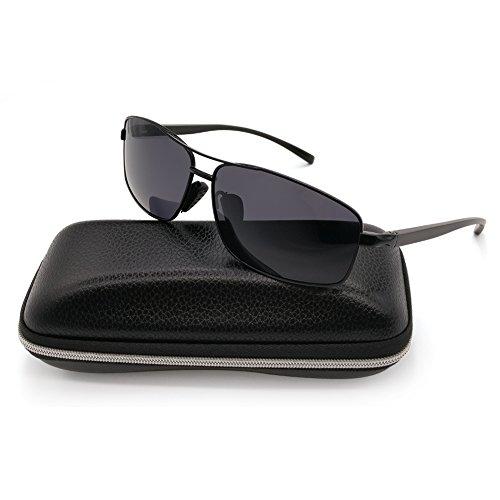 e8903e74fd Polarized Sunglasses for Men Sports Driving Fishing Lightweight Rectangular  Metal Frame 100% UV Protection