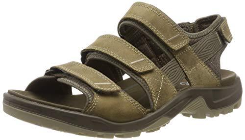 ECCO Men's Yucatan 4Strap outdoor offroad hiking sandal, navajo brown multi-strap, 6-6.5 M US