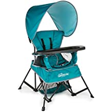 Baby Delight Go With Me Chair | Indoor/Outdoor Chair with Sun Canopy | Teal | Portable Chair converts to 3 child growth stages: Sitting, Standing and Big Kid | 3 Months to 75 lbs | Weather Resistant