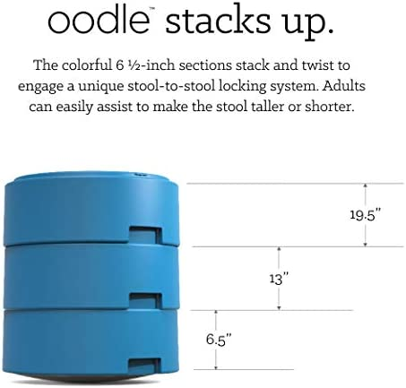 Smith System OODLE31 Oodle Active Seating Adjustable Height Stool, Cerulean Blue