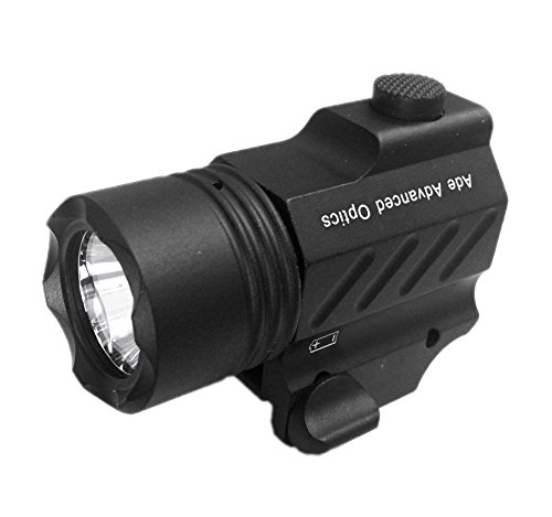 Ade Advanced Optics PL200-A-1 Ultra Compact 400 Lm Bright White LED Rail-Mounted Tactical Flashlight