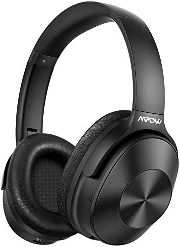 Mpow H12 Hybrid Active Noise Canceling Bluetooth Headphones, [Upgraded] Wireless Headphones Over Ear with Hi-Fi Deep Bass, CVC 6.0 Microphone, Soft Protein Earpads, 30H Playtime for TV Travel Work