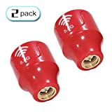 TECHTOO FPV Antenna Stubby Antenna 5.8G 2.3dBi Super Mini RHCP Antenna w/SMA Male Connector for RC Drone Fatshark Goggles FPV Quadcopeter Multicopter TX/RX (Red-2Pack)