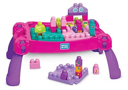 Mega Bloks Build 'N Learn Table (pink/purple)