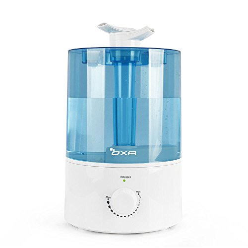 OXA Whisper-Quiet Humidifier 4L Large Capacity Cool Mist Humidifiers with Two 360° Rotatable Mist Outlets. Ultrasonic Air Humidifier for Bedroom Babyroom Home Office, Auto Shut-Off, Easy to Clean