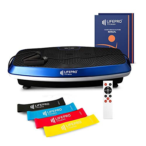 LifePro Hovert 3D Vibration Plate Machine - Dual Motor Oscillation, Lateral + 3D Motion Viberation Platform Machine - Full Whole Body Vibrarating Machine for Home Exercise, Fitness & Weight Loss