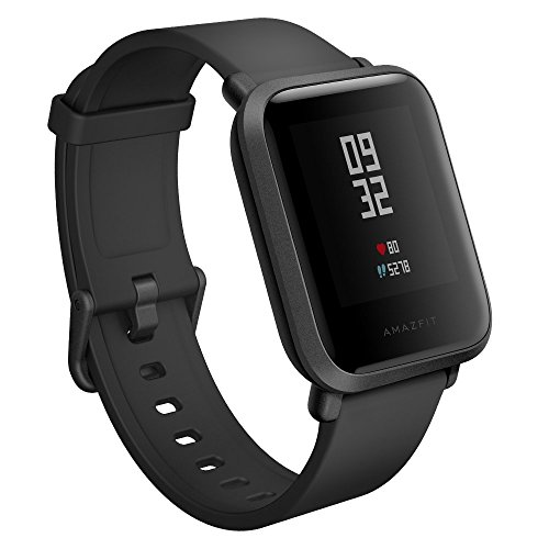 Amazfit Bip Smartwatch w/ Heart Rate, GPS, 30+ Days Battery Life for Apple/Android Devices (US Version) (Onyx BLACK)