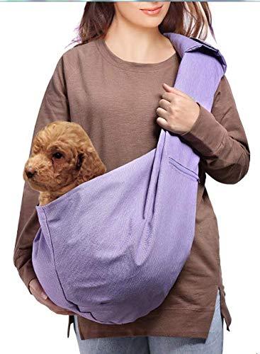 AOFOOK Dog Cat Sling Carrier, Adjustable Padded Shoulder Strap, with Zipper Pocket for Outdoor Travel 1