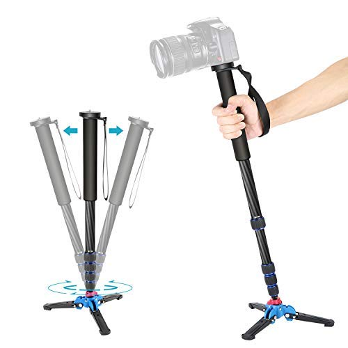 Neewer-Extendable-Camera-Carbon-Fiber-Monopod-with-Removable-Foldable-Tripod-Support-Base-5-Section-Leg-Max-66-inches-for-Canon-Nikon-Sony-DSLR-Cameras-Payload-up-to-11-pounds5-kilograms