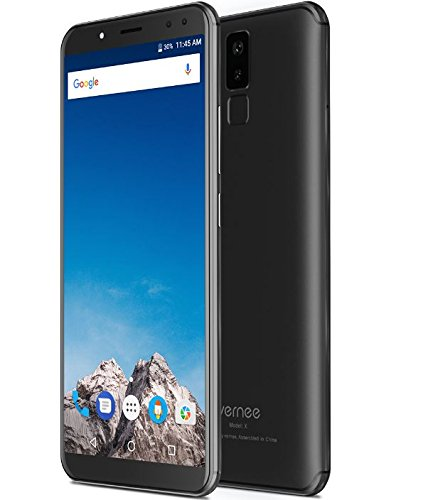 Vernee X Mobile phone 4G LTE 6GB RAM 128GB ROM 6.0 inch 18:9 Smartphone Face ID Android 7 Phone 6200mAh twincamera Octa Core Cell phones (Black)