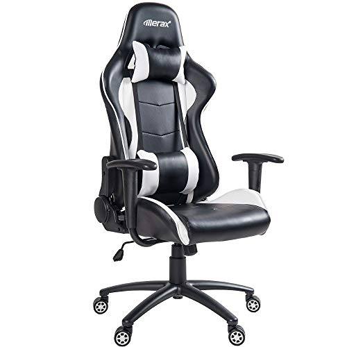 Merax PP036128KAA High Back Gaming Chair with Lumbar Support and Headrest
