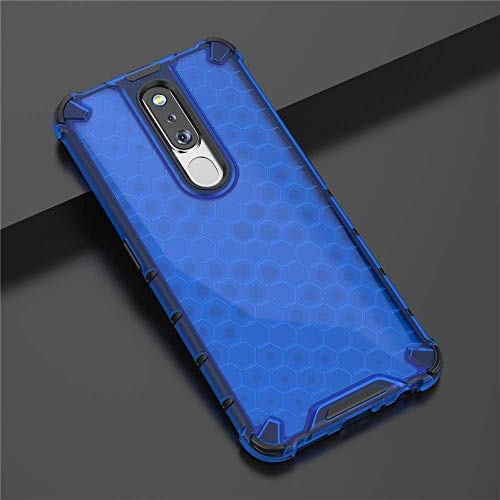 Prime Retail TPU+PC Dual Layer Honeycomb Pattern Shockproof Premium Back Case Cover for Oppo F11 Pro - Blue 4