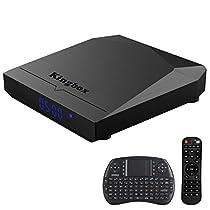 Kingbox K3 Android 7.1 TV Box 2GB RAM + 16GB ROM [2018 Ultima Generazione] Smart TV Box 64 Bit / Octa Core/ S912/ H.265/ 2.4G + 5G Doppio WiFi / BT 4.0 / 1000M LAN con Mini Tastiera Senza Fili