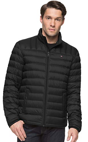 Tommy Hilfiger Men's Packable Down Jacket (Regular and Big & Tall Sizes), Black, X-Large