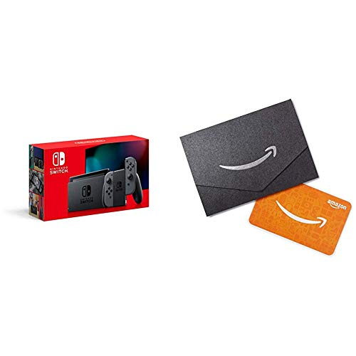 Nintendo Switch with Gray Joy‑Con – HAC-001(-01) with  Amazon.com Gift Card