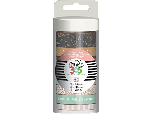 me & my BIG ideas WTT-13 Create 365 The Happy Planner Washi Tape Tube, Rose Planner Basics