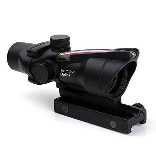 Terminus Optics Black AS1 Red True Fiber BDC Reticle 4x32 Magnification Rifle Scope Terminus LLC