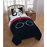 Jay Franco Harry Potter Always 4 Piece Twin Bed Set, Black