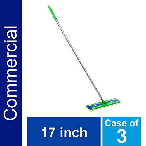Heavy Duty Sweeper Mop by Swiffer Professional, 17-inch Wide Duster, Ideal for Industrial or Commercial use on Hardwood, Tile or for Hand Dusting (Case of 3)