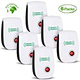 CIVPOWER 2019 Newest Pest Control Ultrasonic Repellent Electronic Repeller Indoor Plug in Mosquito Control for Bugs and Insects Mice Mosquito Spider Rodent Roach, Child and Pets Safe Control (6 Packs)