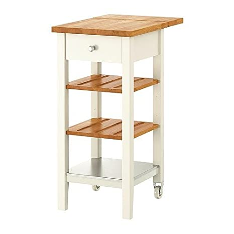 Ikea Stenstorp Cucina Carrello Bianco Quercia 45 X 43