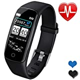 Fitness Trackers Men Smart Watch for Android iOS Phones Father's Day Activity Tracker Watch with Heart Rate Monitor Waterproof Smart Fitness Band with Step Calorie Smart Sports Watch Gifts for Dad