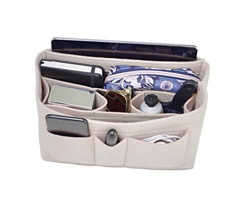 Handbag Organizer - 2in1 Bag Purse Tote Insert with Waterproof Pocket