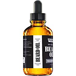 Fragrance Free Beard Oil & Leave in Conditioner, 100% Pure Natural for Groomed Beards, Mustaches, and Moisturized Skin 1 oz by Ranger Grooming Co by Leven Rose (Beard Oil)  Image 2