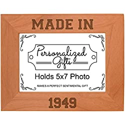 Made In 1949 Natural Wood Landscape Frame